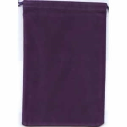 Picture of Dice Purple Velour Pouch Large