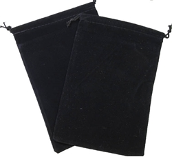 Picture of Dice Black Velour Large Pouch
