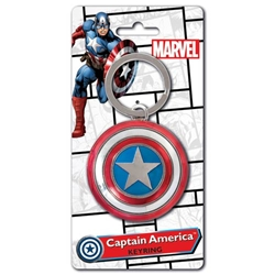 Picture of Captain America Shield Colored Keyring