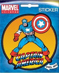 Picture of Captain America on Orange Die Cut Sticker