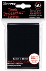 Picture of Deck Protectors Black Small Card Sleeve 60-Count Pack