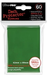Picture of Deck Protectors Green Small Card Sleeve 60-Count Pack