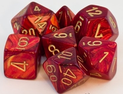 Picture of Dice Set Scarab Scarlet/Gold