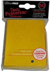 Picture of Deck Protectors Yellow Card Sleeve 50-Count Pack