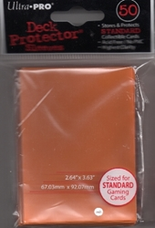 Picture of Deck Protectors Orange Standard Card Sleeve 50-Count Pack