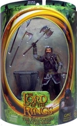 Picture of Lord of the Rings Gimli with Battle Axe Swinging Action Fellowship of the Ring Action Figure