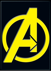 Picture of Avengers Symbol Black Magnet