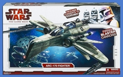 Picture of Star Wars ARC-170 Clone Wars Fighter Figure