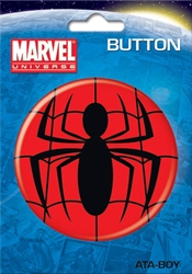 "Picture of Spider-Man Logo 3"" Button"