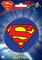 "Picture of Superman Logo 3"" Button"