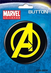 "Picture of Avengers Symbol 3"" Button"