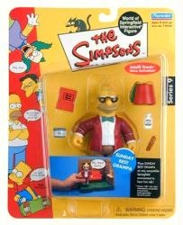 Picture of Simpsons World of Springfield Series 9 Sunday Best Grandpa Action Figure