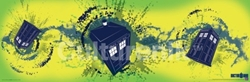 Picture of Dr. Who Tardis Taking Off Horizontal Poster