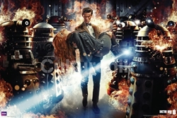 Picture of Dr. Who Daleks & Flames Poster