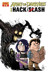 Picture of Army of Darkness vs Hack/Slash #2 Haeser Cover