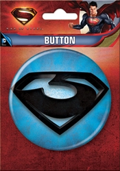 "Picture of Superman Man of Steel Zod Logo 3"" Button"
