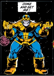 Picture of Thanos Come and Get Me Magnet