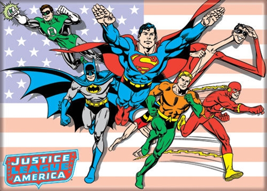 justiceleagueonflagmagnet