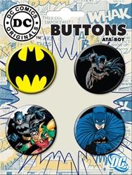 Picture of Batman 4-Button Set