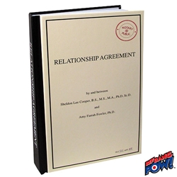 Picture of Big Bang Theory Relationship Agreement Journal