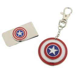 Picture of Captain America Money Clip & Keychain Gift Set