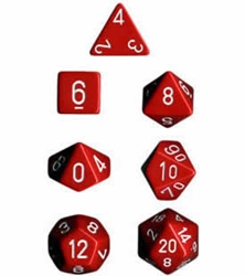 Picture of Dice Set Opaque Red/White