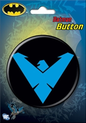 "Picture of Nightwing Logo 3"" Button"