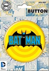 "Picture of Batman Comic Logo 3"" Button"