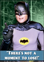 Picture of Batman '66 There's Not a Moment to Lose Magnet