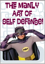 Picture of Batman TV Series Batman Manly Art of Self Defense Magnet