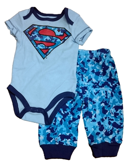 Picture of Superman Boys Newborn Onesie Pants 2-Piece Set