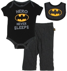 Picture of Batman Hero Never Sleeps Onesie 3-Piece Set