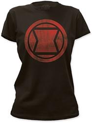 Picture of Black Widow Distressed Logo Women's Tee