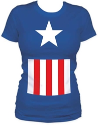 Picture of Captain America Costume Women's Tee