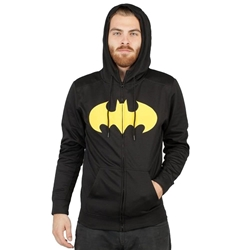 Picture of Batman Symbol Pieced Poly Men's Hoodie