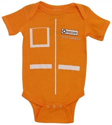 Picture of Portal Apperture Laboratories Test Subject Onesie