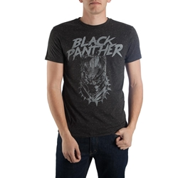 Picture of Black Panther Metal on Black Men's Tee