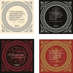 Picture of Game of Thrones Quotes Coaster Set