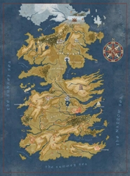 Picture of Game of Thrones Cersei Westeros Map Puzzle