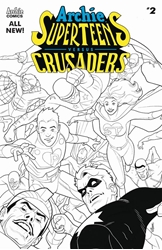 Picture of Archies Superteens vs the Crusaders #2 Black & White Cover