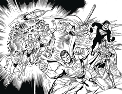 Picture of Action Comics #1000 DF B&W Cover Jurgens Signed