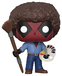 Picture of Pop Marvel Deadpool Playtime Bob Ross Vinyl Figure