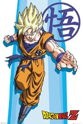 "Picture of Dragon Ball Z Goku Super Saiyan 24"" x 36"" Poster"