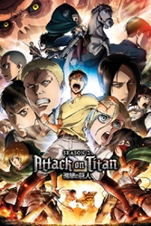 "Picture of Attack on Titan Season 2 Fight 24"" x 36"" Poster"