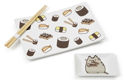 Picture of Pusheen Sushi Plate, Soy Dish & Chopstick Set