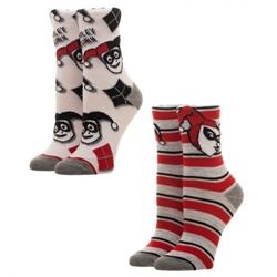 Picture of Harley Quinn Juniors Crew Socks 2-Pack