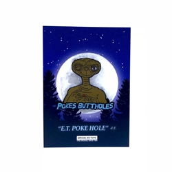 Picture of ET the Extraterrestrial Pokes Buttholes Pin