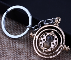 Picture of Harry Potter Gold Hourglass Keychain