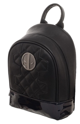 Picture of Marvel Deadpool Black Metallic Quilted Mini Backpack