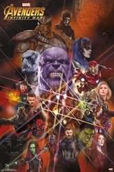 """Picture of Avengers Infinity War Universe 22"""" x 34"""" Poster"""